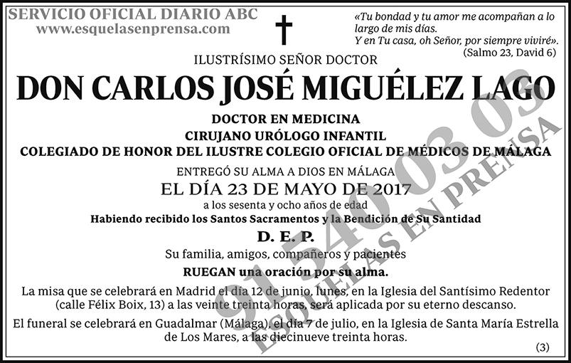 Carlos José Miguélez Lago